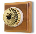 Classic Electric Clipsal Heritage Brass Light Switches