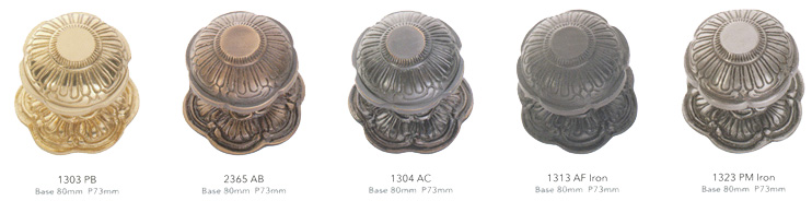 Click On Above Door Centre Knobs For A Larger Image